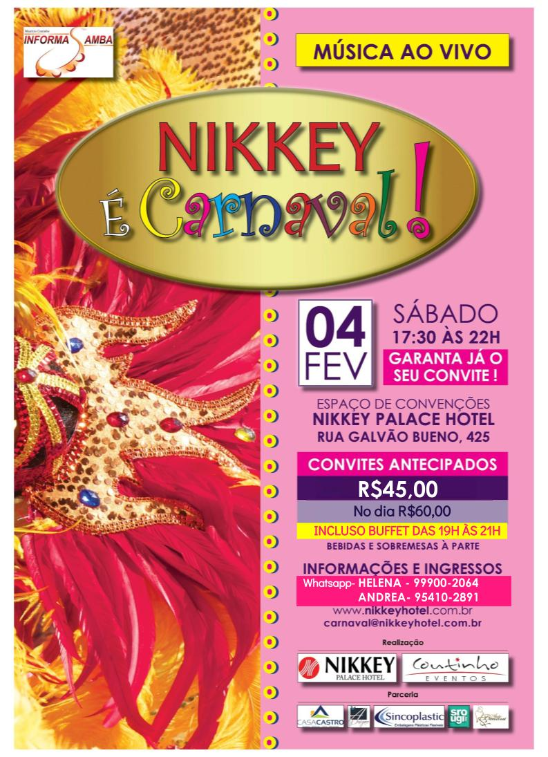 Realizações 2017- Nikkey é Carnaval